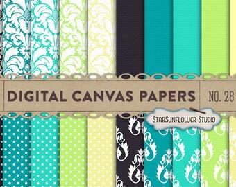 Damask & Dots Digital Scrapbook Paper Pack  No 28 - 12x12