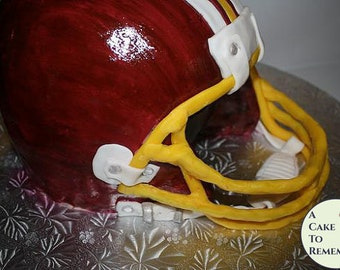How To Make  3D Football Helmet Cake Decorating Tutorial