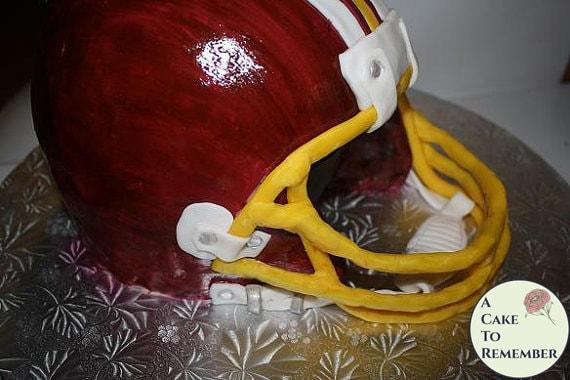 How To Make a 3D Football Helmet Cake Decorating Tutorial PDF download. Sugar craft tutorial for a sculpted helmet cake.