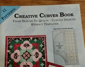 Quiltsy Destash Party.  Quilt Books.  CREATIVE CURVES.  Virginia A. Walton.  12 patterns. Precise instructions.  Book like NEW.  Never used.