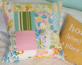 Pretty Vintage Bed Linen Pillow Cover