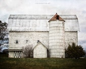 Farmhouse Decor, Fixer Upper Decor Style, White Barn Landscape, Rustic Home Decor, Country Decor, Farmhouse Decor White Barn, Barn Art Farm.