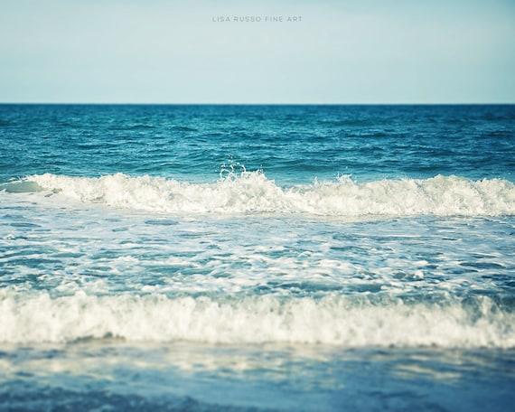 Beach Print or Canvas Art, Turquoise Water, Ocean Decor, Beach House, Seaside Surf, Waves, Beach Home Decor, Aqua, Blue, Teal, White.