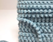 "5 Yards ""Dusty Blue"" BABY PomPom Trim, Ball Fringe"