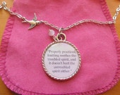 Knitting Quote Quote In A Necklace Pendant