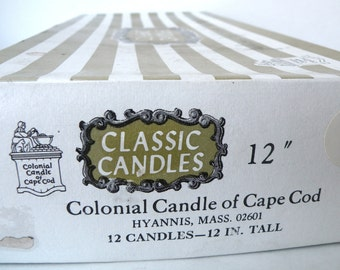 12 taper candles dripless 12 inch colonial candle classic cape cod top selling
