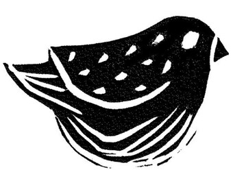 Stampington And Co Wooden Rubber Stamp Bird Watching  Bold Image