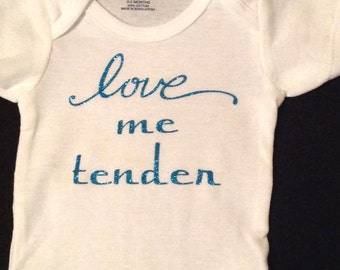 Elvis love me tender custom onesie