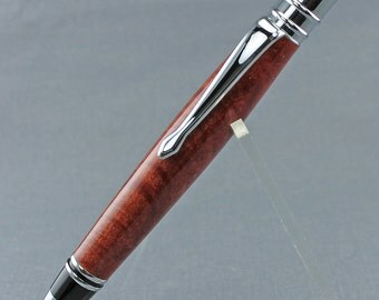 Quilted Pink Ivory on Chrome Plated Executive Twist Pen