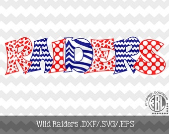 Wild Raiders Files INSTANT DOWNLOAD in dxf/svg/eps for use with programs such as Silhouette Studio and Cricut Design Space