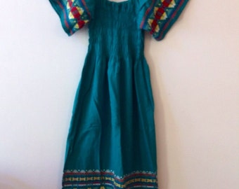 Vintage Embroidered Cotton Dress