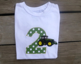 John Deere Tractor Birthday Shirt