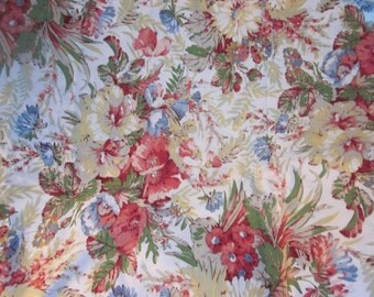 "ralph lauren floral fabric, 4 yards 60"" wide, unused, gorgeous fabric heavy weight"