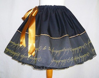 Elvish Script Skirt By Rooby Lane