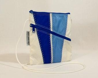 Crossbody Bag, Shoulder Bag, Small Shoulder Bag, Nautical Bag, Bridesmaid Bag, Sail Bag, White Bag, Blue Bag, Light Blue Bag (OTS6)