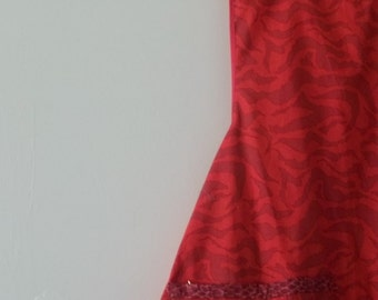Vintage Style Woman's Full Red Tiger Stripe Apron
