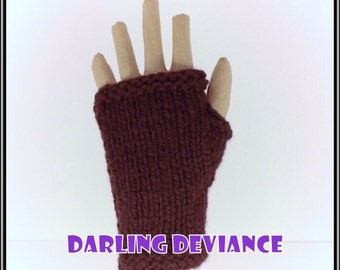Fingerless Gloves - Espresso