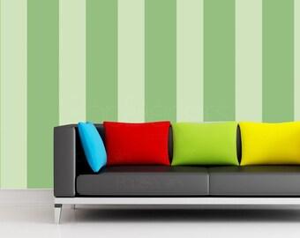 Custom Color Vertical Bold Peel & Sticker Fabric Wallpaper Self-adhesive Repositionable Wall Mural prt0081