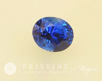 Kashmir Blue Color Sapphire Gemstone  Oval Shape for Jewelry Ring or Engagement Ring September Birthstone