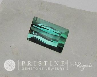 Natural Blue Green Tourmaline Emerald Cut 11.1 x 7 MM Wholesale October Birthstone