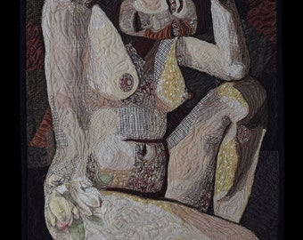Quilted Wall Hanging- Nude #2