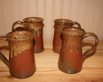 Large manly pottery mug, mug for men, mug for large cups of coffee, tea, hot chocolate