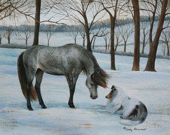 "New Limited Edition Collie Print ""Spellbound"" by Cindy Alvarado"
