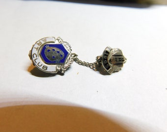 Vintage JHHS Art Club Sterling Silver School Pin     Dr-1