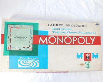 1961 Parker Brothers Monopoly Game  Box JJ