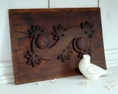 Vintage Detailed Decorative Wood Door Panel with Beautiful Carving