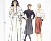 Vogue 9722 Chic Skirts Office Attire Sz's 8,10,12 Uncut Pattern