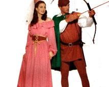 Butterick 5749 Adult Robin Hood, Maid Marian Fantasy Costumes Sz XS-S-M Uncut Pattern
