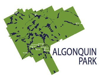 Typographic Map of Algonquin Park, Ontario