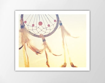 Dreamcatcher Art Print, Dreamcatcher Photo, Summer Art, Summer Decor, Modern Wall Art, Dreamcatcher Art, Dreamcatcher Print, Dreamcatcher