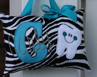 Tooth Fairy Pillow for Girls  - Zebra