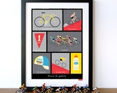 Bike Art, Tour de France, French Cycling Terms, Art Print