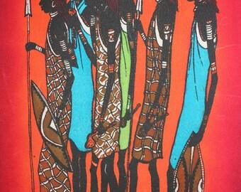 Maasai Men Batik