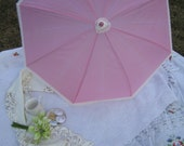 Pink Parasol with Cream Lace, Pretty Parasol, Waterproof Parasol, Cream Lace, Pretty Pink, One of a Kind,