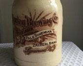 Vintage Beer Stein Mug Crystal Springs Syracuse NY