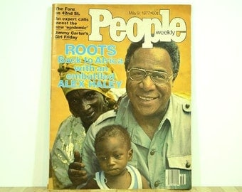 Vintage People Magazine 1977 Roots Back to Africa Alex Haley People Weekly
