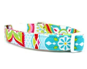 Girl Dog Collar | Sweet Summertime Adjustable Dog Collar | Female Dog Collar | Unique Dog Collar