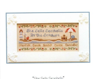 Country Cottage Needlework: She Sells Seashells - a Country Cottage Kids Cross Stitch Pattern