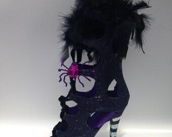 Wicked Witch of the West| Wizard of Oz| Glitter Shoe New Orleans Mardi Gras Folk Art