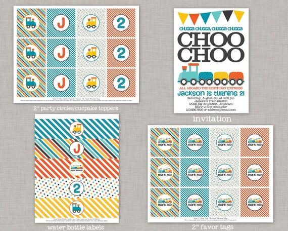 Train Birthday Party Decorations Choo Printable Second Boy