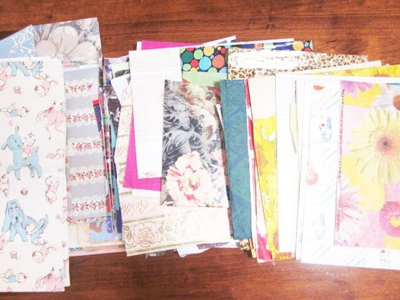 Vintage Wrapping Paper - Large Assorted Crafting Lot of Gift Wrap - Approximately 6 pounds of Vintage Paper Supplies
