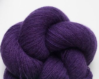 Lace Weight Recycled Cashmere Yarn, Purple Cashmere Lace Weight Recycled Yarn, 914 Yards Available
