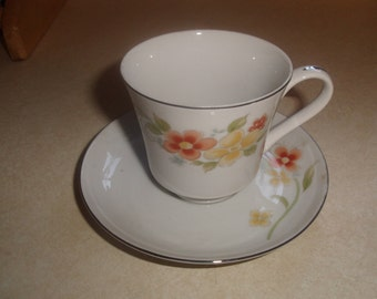 vintage bone china tea cup saucer set annabelle floral
