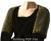 Outlander Inspired PDF Kniting Pattern Claire's Shoulderette Shrug  Sassenach Shrug . Is not a finished product.