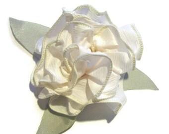 Alaina Hair Ribbon Bow Pin / Handmade Floral Ribbon Choker / Fashion Accessory