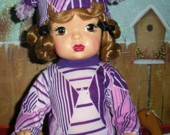 Fits 16 Inch Terri Lee Doll .. Gutsy Grape Long Sleeve Shirt .. D686